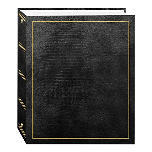 Magnetic Self-Stick 3-Ring Photo Album 100 Pages (50 Sheets), Black