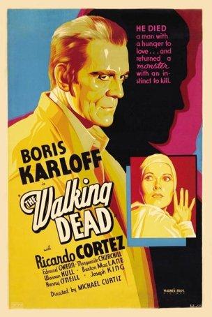 Boris Karloff in The Walking Deadノベルティゴルフタオルゴルファーアクセサリークリーニングツール   B01N4MBSIF
