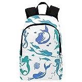 InterestPrint Custom Colorful Mermaid Sealife Casual Backpack School Bag Travel Daypack Review