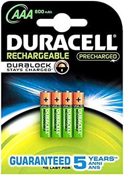 Duracell StayCharged AAA 4 Pack Rechargeable battery Níquel-metal hidruro (NiMH): Amazon.es: Electrónica