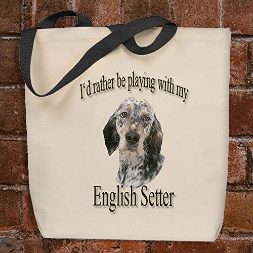 I'd Rather Be Playing With My English Setter - Tote Bag English Setter Accessories