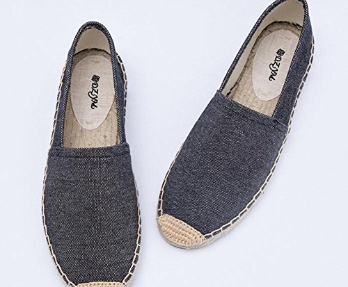 YTTY Solid Trend 36 Shoes Flat gray Canvas rvFprwU