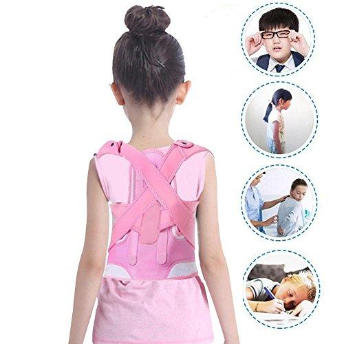 Corrector de postura, rosa Espalda de la cintura del hombro Corrección de la postura de soporte Dirección opuesta...
