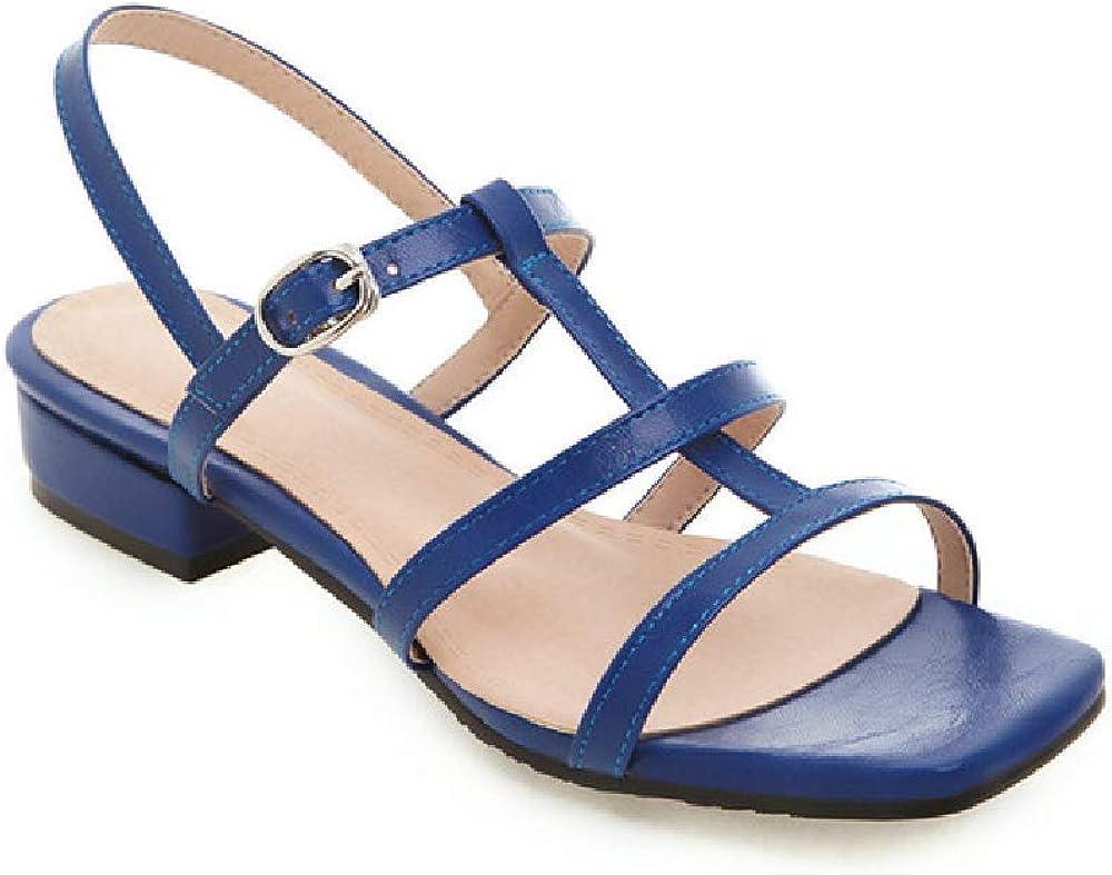 RCTO Plus Size 50 Women Sandals Simple Solid Colors Summer Shoes Square Low Heels Dress Party Wedding Shoes Woman