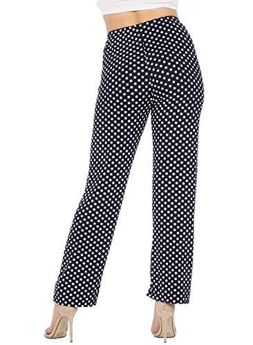Unique Femme Taille Imprimé 21fashion Pantalon Bleu Marine fUq4vvw