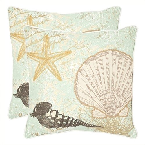 Safavieh Pillows Collection Eve Decorative Pillow, 18-Inch,