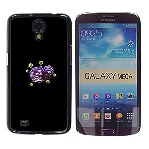 YiPhone /// Prima de resorte delgada de la cubierta del caso de Shell Armor - Meter Skull Purple Monster - Samsung Galaxy Mega 6.3