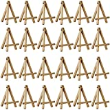 U.S. Art Supply Mini 5 inch Natural Wood Craft, Business Card, Photo Display Easel (Pack of 24)