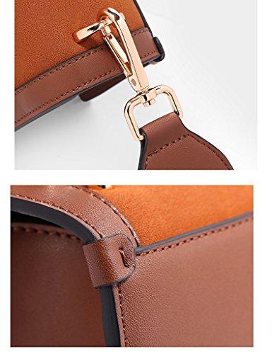ZCJB Dreieck-Paket Retro-breiter Schultergurt Wild Small Square Paket Schulter Messenger Bag