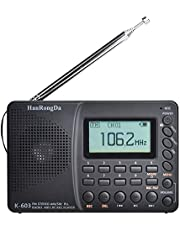 Staright Rádio portátil HRD-603 AM/FM/SW/BT/TF Rádio de bolso USB MP3 Gravador digital suporta cartão TF BT