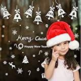 Reusable White Christmas Flakes Window Stickers SELF CLINGS Decorations