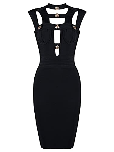 Alice & Elmer Donna Rayon Cut Out Backless Bodycon Party Vestiti Cocktail Bandage Bendare Club Dress Vestito