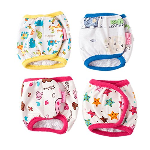 Fully 2x Dog in Season Heat Nappy Incontinence Protective Pants Diapers Male Dog Physiological Belly Bands Wrap (color&pattern random) (M (waist: 38-52cm/14.96-20.47