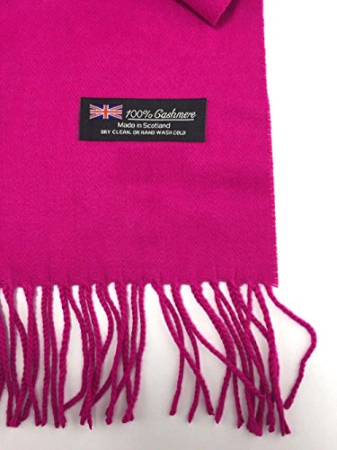 hot-pink-solid-scarf-72x12-warm-winter-made-in-scotland-us-seller