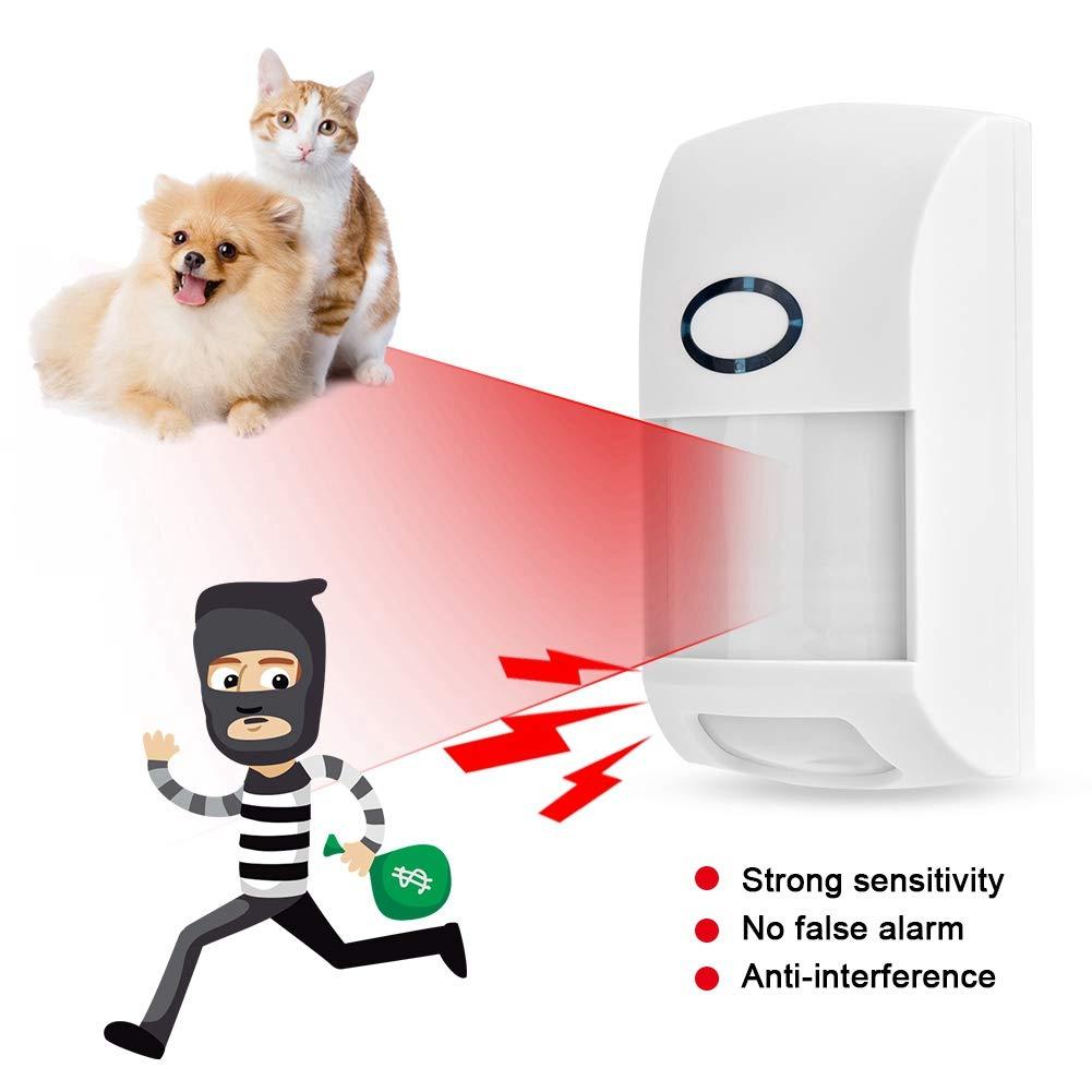 Alarma de seguridad 433MHZ Detector infrarrojo inalámbrico ...