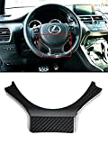 lexus steering wheel - Cuztom Tuning CARBON FIBER STEERING WHEEL ADD-ON TRIM COVER FOR 2015-2017 LEXUS IS/NX/RC/GSF/CT200
