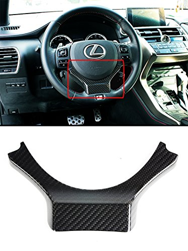 - Cuztom Tuning Carbon Fiber Steering Wheel Add-on Trim Cover for 2015-2017 Lexus IS/NX/RC/GSF/CT200