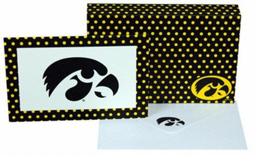 NCAA Iowa Hawkeyes Polka Dot Design Stationary Note Card Set