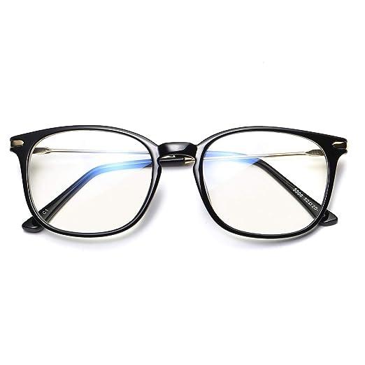 6d04795b03 Amazon.com  Armear Blue Light Blocking Glasses Non Prescription Nerd  Eyeglasses Anti Blue Light Computer Game Glasses Clear Lens Black frame
