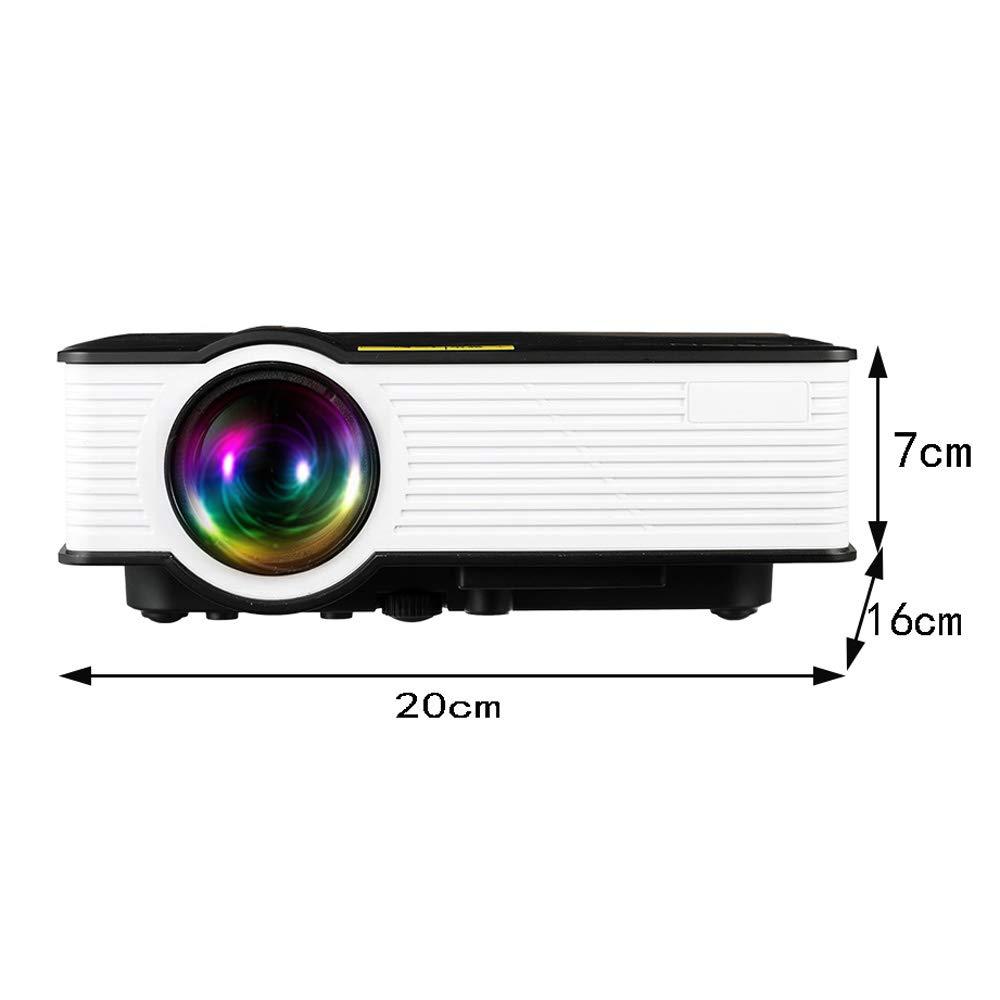 LHR Proyector, pequeño HD 1080P Sistema de Cine en casa 3D ...