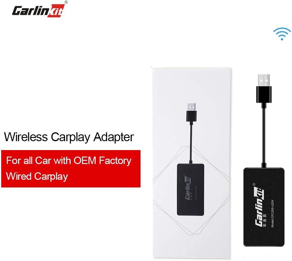 for Factory Wired Carplay Cars CarPlay Wireless U2W Carlinkit 2.0 Wireless CarPlay Adapter for Audi//Volkswagen//Volvo with Original CarPlay Convert Wired to Wireless Carplay Supports iOS 13 14