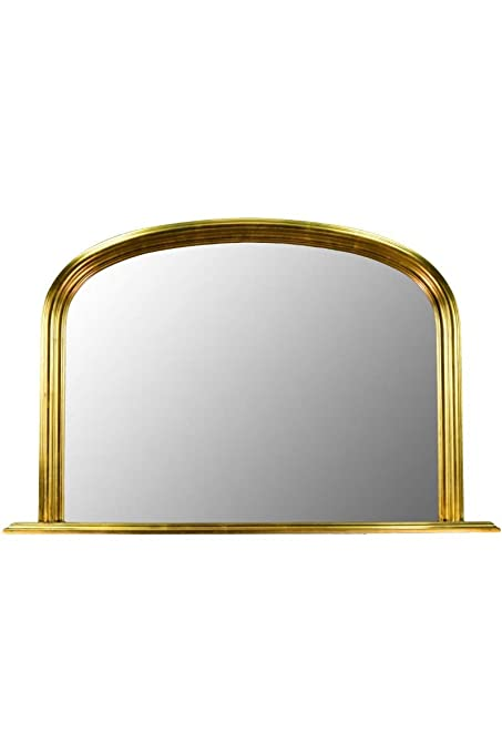 e58174c58636a Classic French Inspired METALLIC GOLD Overmantle Mirror with Elegant ARCHED  Frame and complete with Premium Quality