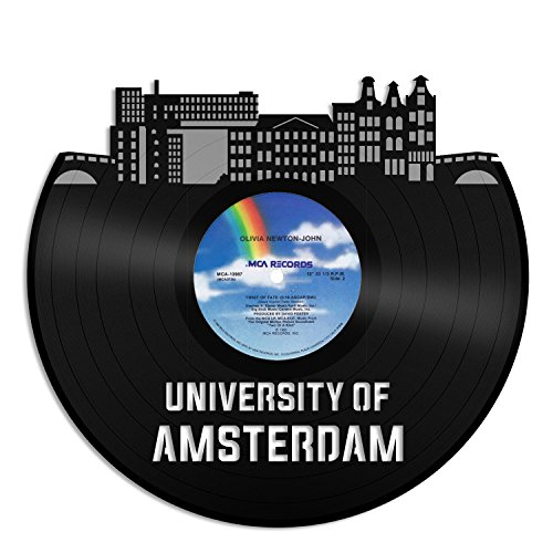 VinylShopUS - University of Amsterdam Vinyl Wall Art Out Framed Skyline Scholars Gift Bedroom | Home Decoration