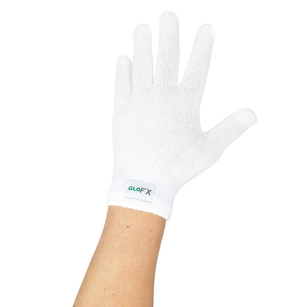 White Gloves - Regular Size Magic Stretch Spandex Acrylic Polyester Cotton Premium Winter Knit Gloves (1 Pack) GL-W