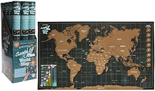 Póster con mapa del mundo grande para rascar personalizado, para viajes, vacaciones y uso personal.: Amazon.es: Oficina y papelería
