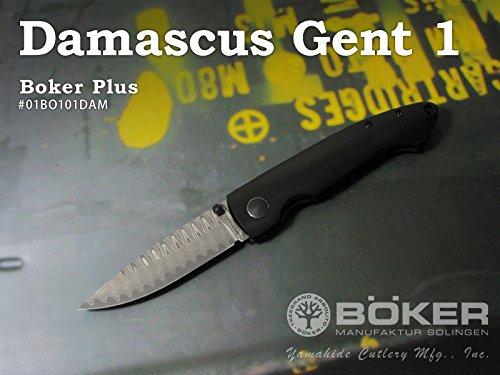 BOKER Plus/ボーカー プラス #01BO101DAM ダマスカスジェント1 フォールディングナイフ 【日本正規品】 B01LWQR1QF