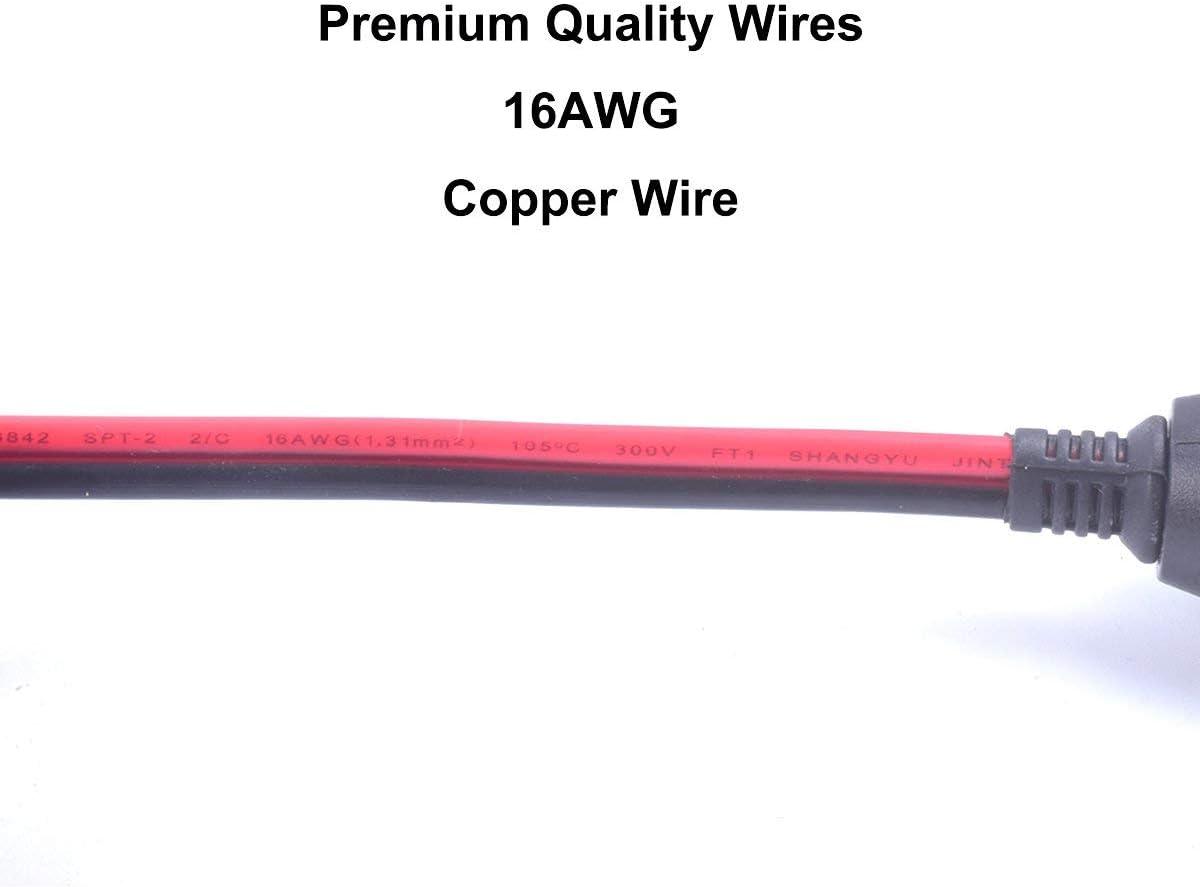 Premium 15A 15FT Auto encendedor de cigarrillos Enchufe Cable de extensi/ón de servicio pesado con fusible encendedor de coche Ciga Enchufe y enchufe 12V 24V Cable de cobre