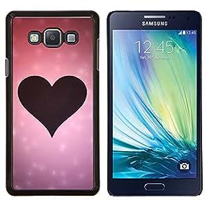 TECHCASE---Cubierta de la caja de protección para la piel dura ** Samsung Galaxy A7 ( A7000 ) ** --Amor Rosa Amor del Corazón