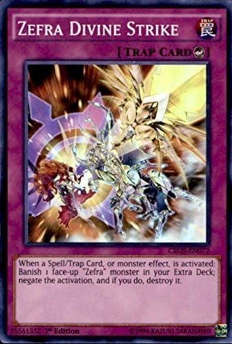 Yu-Gi-Oh! - Zefra Divine Strike (CROS-EN072) - Crossed Souls - Unlimited Edition - Super Rare by Yu-Gi-Oh!: Amazon.es: Juguetes y juegos