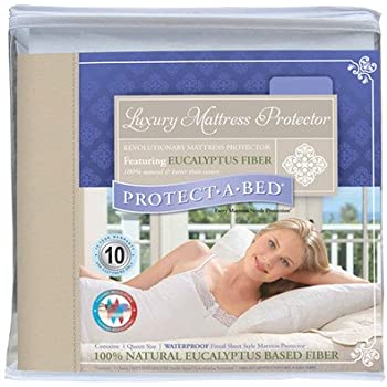 Protect-A-Bed Luxury Waterproof Mattress Protector, Queen