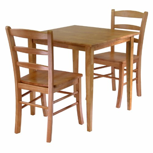 Finish Piece Table 3 Wood - Winsome Groveland 3-Piece Wood Dining Set, Light Oak Finish