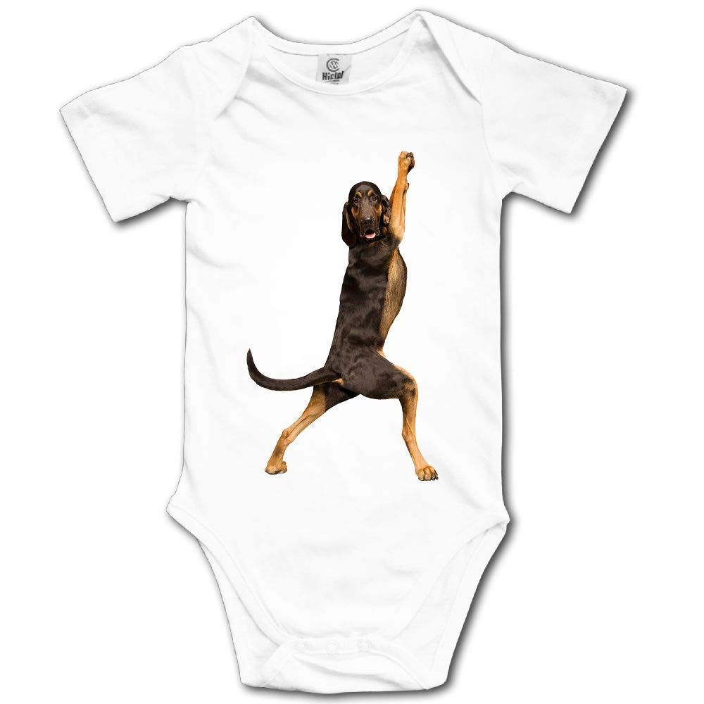 WENYIFANG Yoga Dogs Short Sleeves Baby Bodysuits Outfits Infant Clothes Romper