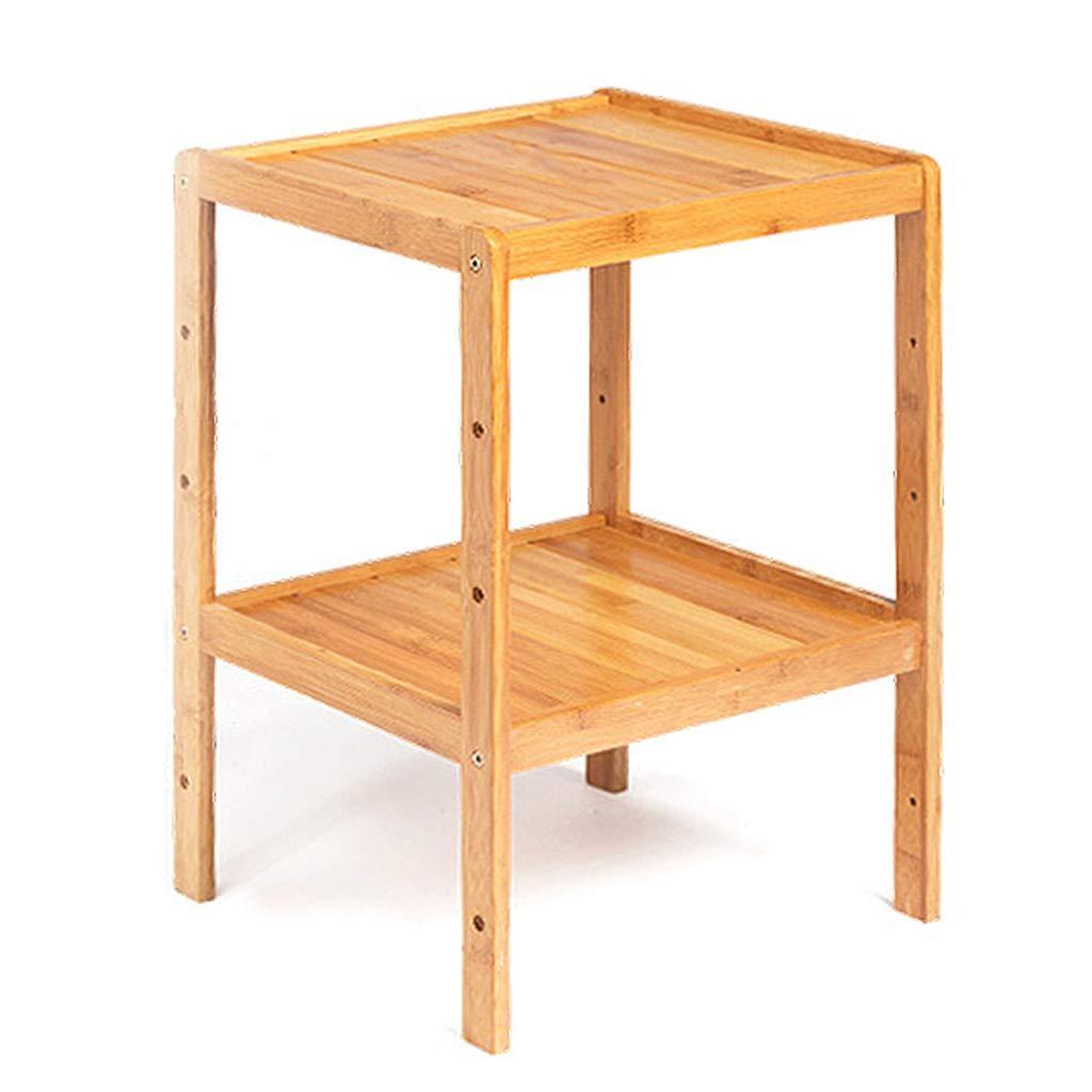 Bücherregal Ablagefach, Blaumenständer Dekor Display Rack, Bambusrahmen höhenverstellbar, für Schlafzimmer Badezimmer Wohnzimmer Küche (4 Styles)  2 Tier