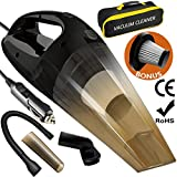 #2: Car Vacuum Cleaner, Lovin Product Portable Handheld Car Vacuums with Stronger Suction; DC 12-Volt 120W High Power/ Wet& Dry Use/ Auto Car Vacuums with 15ft power cord, 2 Filters&1 Carry Bag (CVC-01)