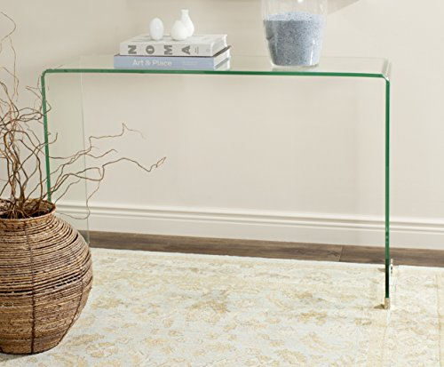 Safavieh Home Collection Ambler Clear Console Table - This console table will add a classic look to any room;Shape :Rectangle The clear glass finish of this console table will add the perfect accent to your home Crafted of glass - living-room-furniture, living-room, console-tables - 51bgbSS%2BoQL -