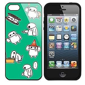 Cute Baymax Apple iPhone 5 5S TPU Cover case (#1 Black)