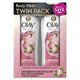 Olay Fresh Outlast Cooling Body Wash for Vibrant & Fresh Skin All Day, White Strawberry & Mint Scent - 16 Fl Oz, Pack of 2