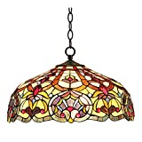 Chloe Lighting CH33473IV18-DH2 Sadie - Tiffany-Style Victorian 2 Light Ceiling Pendant Fixture 18
