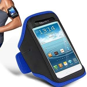Nokia305 brazal ajustable Gimnasio Correr Correr Deporte cubierta de la caja por Mobi Plus (azul)
