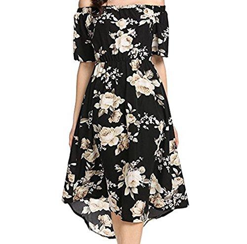 Moda Verano Ocio Atractivo Personalidad Auto-cultivo Moda Vestido Black