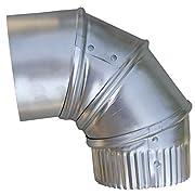 Speedi-Products EX-26A90 04 4-Inch Aluminum 90-Degree Adjustable Elbow