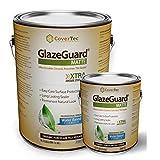 GlazeGuard Matte Floor Sealer Wall Sealer for Ceramic, Porcelain, Stone Tile Surfaces (0.75 Gal - Prof Grade (2) Part Kit)