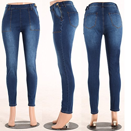 Stile Comodi Distrutti Pantalone Sentao Casuale Pantaloni Jeans Skinny 3 Strappati Donna qwHXxHzg