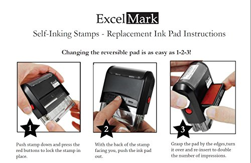 CONTROLLED COPY Self Inking Rubber Stamp - Red Ink (ExcelMark A1539) Photo #9