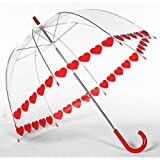 Elite Rain Frankford RB01-HS Clear Printed Bubble Umbrella, Heart String