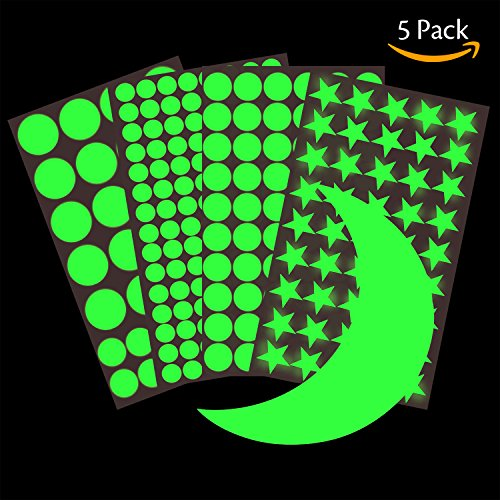 Hibery 5 Pack Starry Wall Stickers, Star Wall Decals,